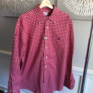 Brooks Brothers red and white dress shirt